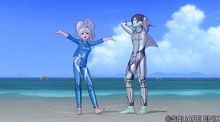 【装備】防具 > からだ上「サメスーツ・青」