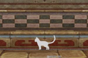 【ハウジング】家具 > その他「シルエット・猫・白」