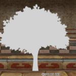 【ハウジング】家具 > その他「シルエット・樹木・白」
