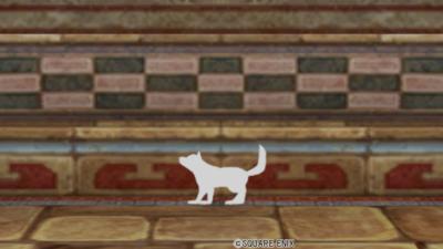 【ハウジング】家具 > その他「シルエット・犬・白」
