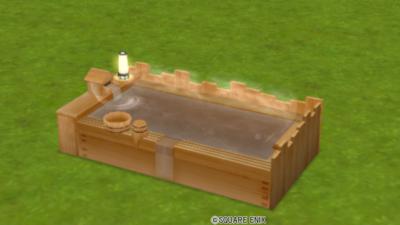 【ハウジング】庭具 > その他(庭)「温泉効果付きヒノキ風呂」