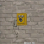 【ハウジング】家具 > 壁かけ家具「壁かけ純喫茶の電話機」